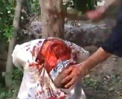 【グロ動画】片手剣でザクザク叩き切る 血しぶきが上がり散らかす処刑映像をスローモーションにしてみたw ※斬首