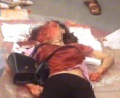 【グロ動画】悲鳴が轟く事故現場で顔面崩壊してエイリアンに転生した女の子の死体が落ちとったんだが・・・