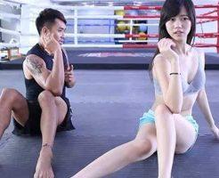 【エロ動画】食い込み半端なさ過ぎる台湾美少女の筋トレ映像エッチ過ぎワロタwww