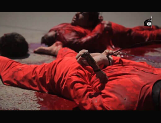 【グロ動画】人通りがある路上で一斉に4人を処刑する isis斬首の超高画質映像・・・ ※閲覧注意