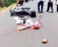 【グロ動画】バイクに乗っていた女の子が事故って脳みそと内蔵ぶちまけ通行人がドン引きしてしまう現場がコレwww ※女 死体