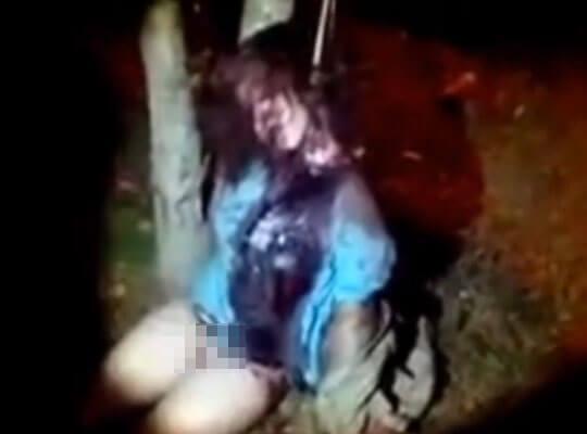 【グロ動画】強姦魔に犯された後 首を絞められ殺害された女の子の半裸死体・・・ ※殺人