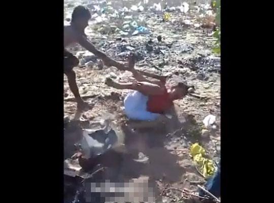 【グロ動画】ブラジルの少年たちのお遊戯 斧や投石で同級生を殺害していく殺人映像・・・