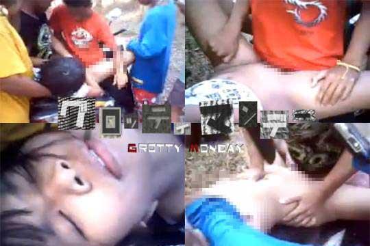 【本物レイプ】少年達が幼い美少女を輪姦していく無修正強姦動画