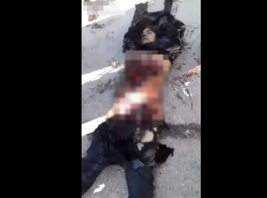 【グロ】世界で話題になっている「クルド人女性兵士の遺体切断動画」がコレ・・・