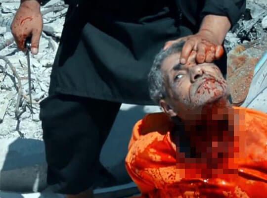 【isis グロ】首をねじり切って殺害するイスラム国の処刑映像