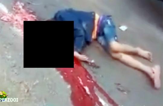 【グロ動画】女性の頭だけをピンポイントで轢いた結果・・・※超閲覧注意