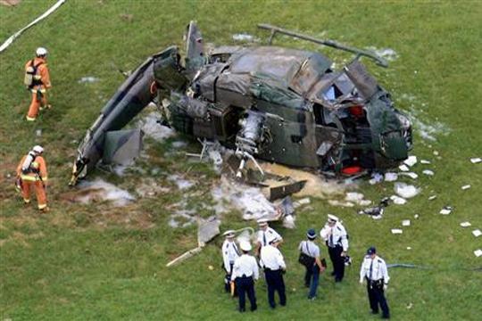 【超衝撃映像】ヘリ墜落の一部始終を運転手目線で取った映像が怖すぎる・・・
