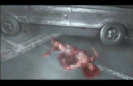 【閲覧注意】停車中のトラックを横切ったらありえない風景に出くわした【映像あり】