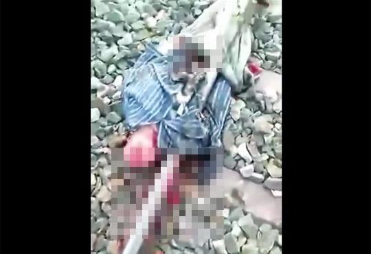 【自殺映像】線路に頭を乗せて轢かれる男性…なぜこの方法を選んだ?
