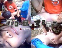 【本物レイプ】少年達が幼い美少女を輪姦する本物レイプ映像