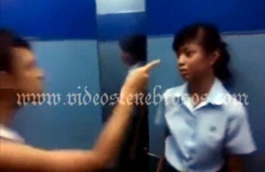 【暴行DV】若いカップルが喧嘩、可愛い彼女をボッコボコにしてやんょ