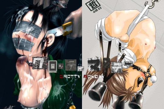【二次リョナ】拷問されて発狂してる美少女や美女のエロ画像で抜ける奴はちょっとこいw