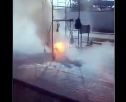 【閲覧注意】感電した人が発火してこんがり焼けるまでの一部始終