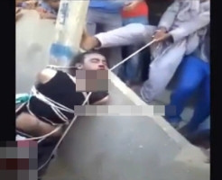 【閲覧注意】犯罪者を民衆が殺す・・・公開首絞め処刑