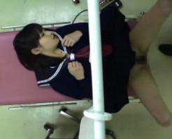 【レイプ盗撮】産婦人科で美少女JKがマ○コを弄られ子宮に精子を流される鬼畜映像