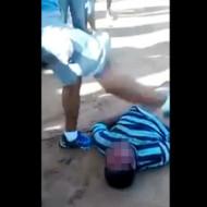 【殺人映像】泥棒の顔面を死ぬまで蹴ってみた・・・ 動画有り