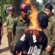 【グロ自殺】ヤンデレの女が自分に火をつけて自殺する一部始終