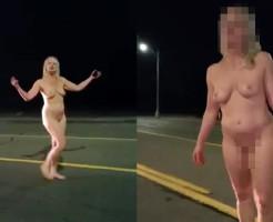 【エロ注意】全裸でま●こ晒しながらウォーキングする美女に絡まれたwww