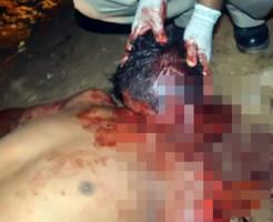 【グロ注意】襲われ切り刻まれた男性の死体が・・・ 閲覧注意