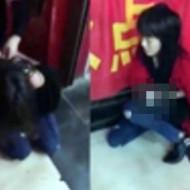 【集団暴行】美少女が脱がされおっぱい丸出しで殴られる女のイジメ・・・