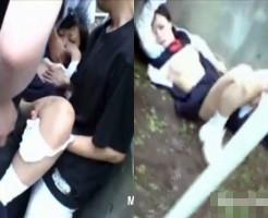 【レ○プ映像】通学路で拉致されて抵抗も出来ず輪姦される女子高生・・・
