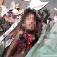 【グロ動画】自縛テロの犯人最後の姿・・・きれいな顔してるだろ。死んでるんだぜ・・・
