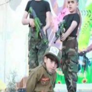 【衝撃映像】パレスチナの子どもたちのお遊戯会:ユダヤ人を抹殺しよう!