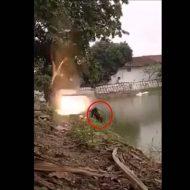 【衝撃映像】DQNがいたずらで仕掛けた花火が冗談抜きで死人出るレベル・・・