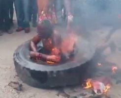 【閲覧注意】「タイヤネックレス」で人間焼き殺してお祭りムードな人種と共存できる?
