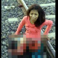 【グロ画像】駅で列車待ちの女の子がホームから転落して奇跡的に助かったけど・・・ ※閲覧注意