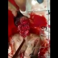 【閲覧注意】顔皮剥いで目をくり抜かれてカッターで首を切って拷問してみたpart2 高画質 ※動画