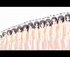 【超朗報】パイパンJYからお毛けが生えるJK歳までのマ●コサイズ測定してみたwww ※動画