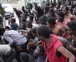 【衝撃動画】せや密入国したろ!アフリカの移民さん100人 保護を求めてスペインに強硬突入した模様www
