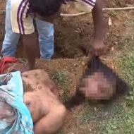 【女 死体】犯人「ここに埋めた。」警察「はよ掘れ!」→首無し全裸女の子の死体発掘してもうたんやが・・・ ※グロ動画