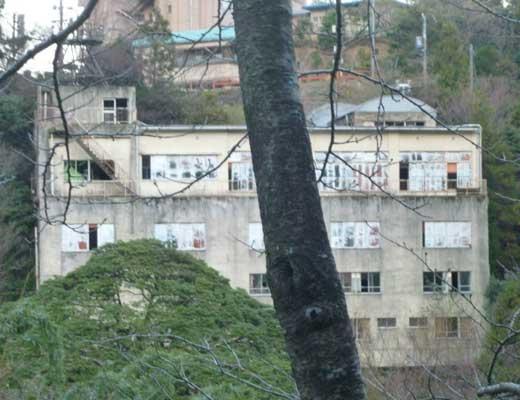 菰野湯の山の廃墟風景写真