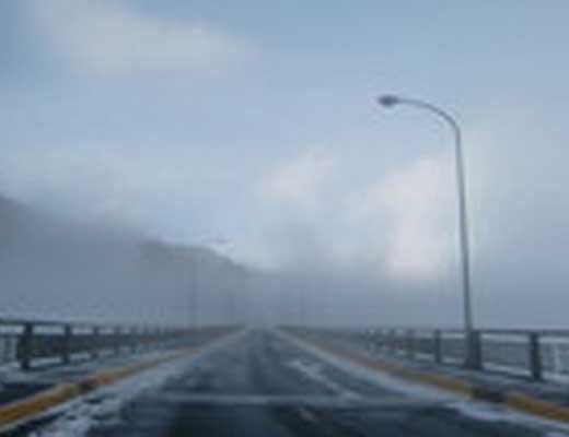 六方沢橋風景写真