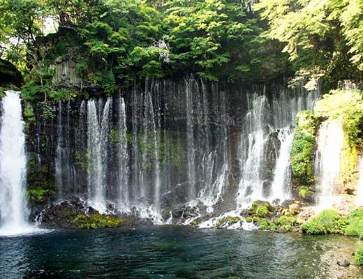白糸の滝風景写真