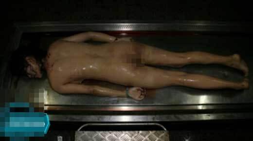 巨乳美女の死体エログロ画像