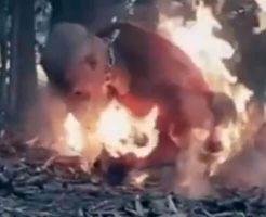 【グロ動画】isis「もっと熱くなれよ!!!」 生きたまま人間を燃やし処刑していくイスラム国の火刑映像が怖すぎる・・・