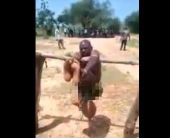 【衝撃映像】土人国家で少女をレイプしまくった強姦魔さん チンコ周りを入念に拷問され無事去勢してしまうw