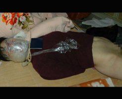 【グロ動画】レイプ魔に犯されまくった少女 顔面ラップグルグル巻き状態で殺されてた・・・ ※強姦殺人