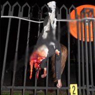 【グロ画像】未成年少女が飛び降り自殺した結果→フェンスに激突し体が真っ二つに・・・ ※少女 死体