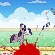 【グロゲーム】ケモナーに犯されてばっかりのポニーちゃんを撃ちまくって血祭に上げてみたw