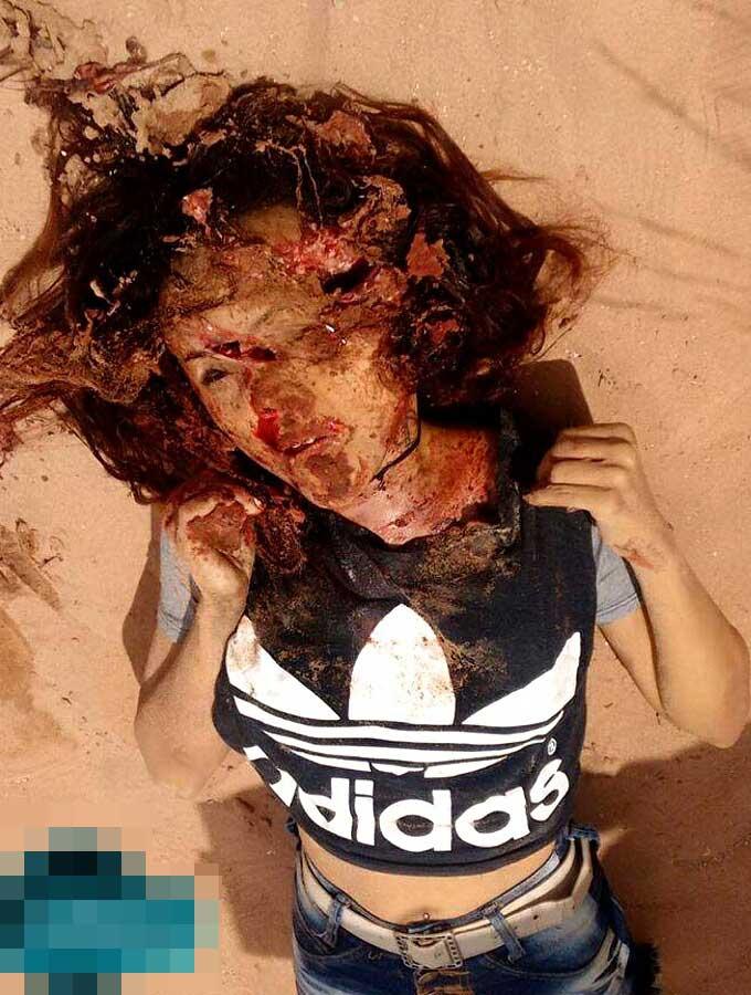 カルテルに殺された少女二名のグロ画像