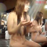 【JK盗撮】とある銭湯で隠しカメラに映ってしまった女子校生の洗体風景www