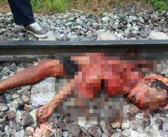 【グロ画像】自殺?事故?綺麗に轢断されなかった人間の死体 トラウマ注意・・・
