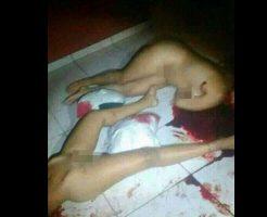 【グロ画像】レズカップルが強姦魔に犯され殺された現場・・・