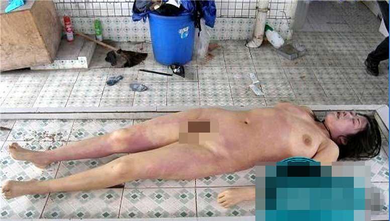 全裸女性死体グロ画像