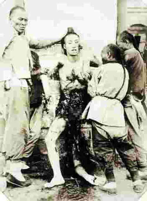 凌遅刑のグロ画像